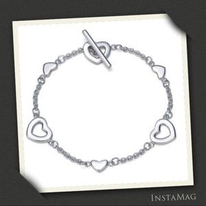 TIFFANY & CO. Heart Links Lariat Bracelet